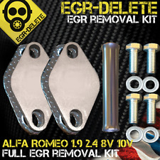 EGR DELETE blanking plate removal Alfa Romeo 147 156 159 1.9 8v 159 166 2.4 10v