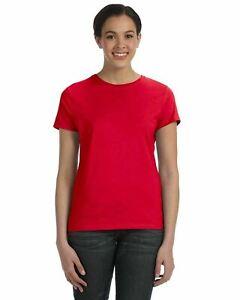 Hanes Ladies' 100% Ringspun Cotton nano-T® T-Shirt Tee S-2XL SL04