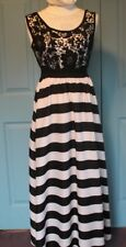 Black and white Striped long dress Size S