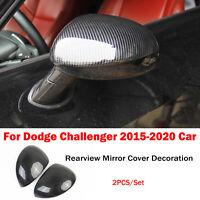 Carbon Fiber Rückspiegel Abdeckung Dekoration Für Dodge Challenger 2015-2020 Car