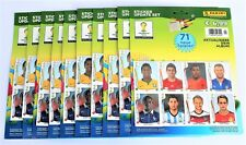 Panini World Cup 2014 Brazil - 10 x sealed set of 71 update stickers NEW