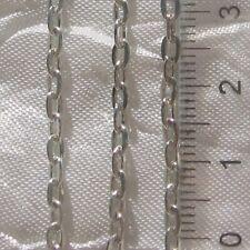 1M CHAINE FORCAT 4,5x3mm Métal argenté couleur METAL perles bracelets fils *C74