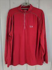Mountain Hardwear Mens Xl Half Zip Base Layer Red Athletic Wear Micro Fleece
