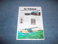 """1978 Cessna Skyhawk Vintage Airplane Ad """"Air Conditioning. You've Never Felt..."""""""