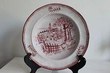 Rare assiette en faience de Quimper décor Cornouille manganèse (2)