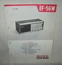 SONY 8F-56W Transistor Radio Original SERVICE MANUAL repair