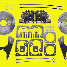 Gm Rear Disc Brake Kit A & F Body 10 & 12 Bolt Non-Staggered Drilled & Slotted!!