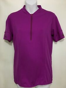 Cannondale Womens M Purple Bike Jersey 1/2 Zip Short Sleeve Cycling Made in USA
