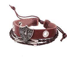 Leather Bracelet Unisex Steampunk Surfer Tribal Goth Friendship Celebrity LB31
