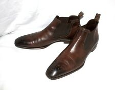 $645 Antonio Maurizi Mens Medallion Toe Dress Shoes Leather Boots EU 46 / US 13