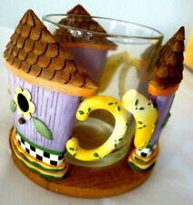 DEBBIE MUMM VOTIVE Holder Birdie Cottage Teapot 8302 New In Box OUR AMERICA