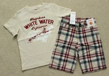 Boys Gymboree White Water Explorer Shirt Red Plaid Shorts Outfit 3 3T NEW