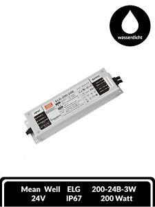Mean Well LED Trafo Treiber Serie ELG DC Dimmbar IP67 Schalt Netzteil 200W 24V