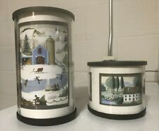 PartyLite Express It Votive Luminary Candle Holders Pair P9449 & 9450