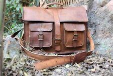 Men's Retro Distressed Leather messenger bag laptop bag computer case shoulder