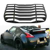 Fits 09-19 Nissan 370Z Coupe Rear Window Louver Sun Shade Cover ABS