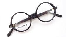 Marken Brille K&B rund intellektuell Oberlehrer Gestell schwarz Vintage Grösse S