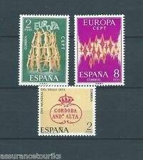 ESPAGNE - EUROPA - 1972 YT 1744 à 1746 - TIMBRES SELLOS NEUFS** LUXE