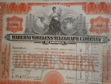 Marconi Wireless Telegraph Company 1920 Free Shipping