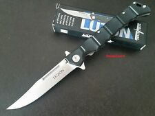 "Cold Steel 5"" Luzon 20NQL Medium Flipper Folding Pocket Knife 8Cr13MoV Blade EDC"