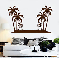 Vinyl Wall Decal Palm Trees Island Beach Style Stickers Mural (ig4332)