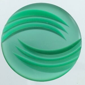 Vintage Molded Plastic Green Etched Garment Button 1.5n  Pattern 788C