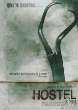 2 MOVIE ADVERTISING CARDS:  HOSTEL -  HORROR MOVIE - FREE SHIP  RAP 129 A &138 B