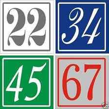 10 oder 25 Hausnummer Kunststoff 5 mm, 100 x 100 mm, Wunschzahl/ Farbe/ Anzahl