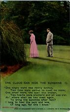Postcard Romantic One Cloud Can Hide the Sunshine Bomforth Song C.1910 J3
