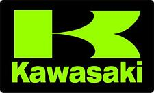 "#981(1) 3.75"" Kawasaki K Over Gloss Racing Retro Decal Sticker Laminated Green"