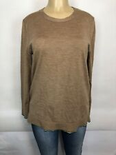 Banana Republic Extra Fine Merino Wool Brown Sweater Womens Size L Casual Tops