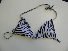 Zebra String Bikini Top Size Large