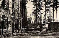 Schneeberg Erzgebirge DDR s/w AK 1964 Gaststätte auf dem Gleesberg Waldpartie