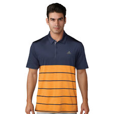 Adidas 2018 Mens Golf Ultimate 365 Heather Block Performance Polo Shirt