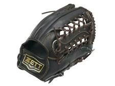 ZETT Pro Model 13 inch Black Baseball Softball Outfielder Glove