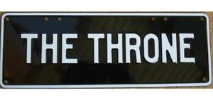 Australian Novelty Tin Number Plate THE THRONE 380mm x 130mm