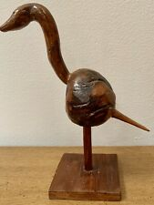 Antique Folk Bird Carved Wood Art SIGNED Williams Original Decoy 1932 Primitive