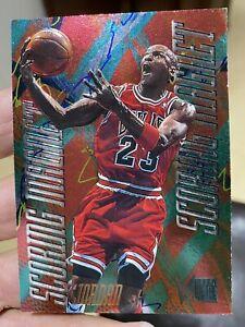 1995-96 Fleer Metal Scoring Magnets Michael Jordan Card #4 Near Mint-Mint