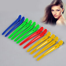 12pcs Colorful Hairdressing Salon Sectioning Clips Clamps Claws Salon Hair Grips