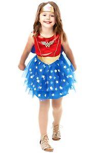 Child DELUXE WONDER WOMAN TUTU Superhero Girls Fancy Dress Costume Marvel Comic