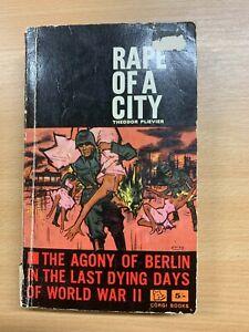 "1962 THEODOR PLIEVIER ""RAPE OF A CITY"" WW2 BERLIN LAST DAYS FICTION PB BOOK (P3)"