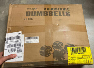 Yes4All Adjustable Dumbbells 40 lbs (2x20lbs) Dumbbell SET - Like bowflex