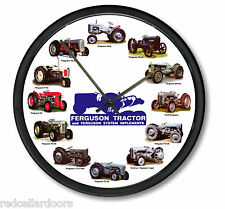 "New MASSEY FERGUSON 10"" Tractor Clock Blue Logo 12 Tractors Wheel Dial Farmer"