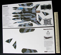 1980 RAF Recruiting Promo Giveaway Cut-out Kit.Swing-Wing Tornado Fighter Bomber