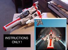 CUSTOM Battlestar Galactica NEW Viper MK II mark 2 (Lego Instructions Only! )