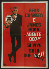 "YOU ONLY LIVE TWICE 1967 mega-rare! Italian 1st release 27""x39"" James Bond 007"