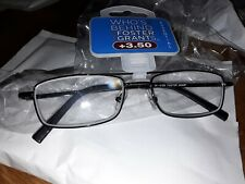 FOSTER GRANT READING GLASSES+3.50 NEW IN PACK
