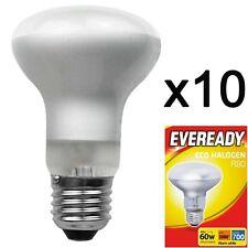 10x R80 46w=60w Screw Cap ES E27 Edison Screw Dimmable Energy Saving Light Bulbs