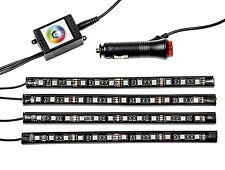 4x LED 12 SMD Piedi Illuminazione Illuminazione Interna Strisce RGB Controllo App