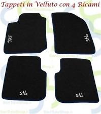 Fiat Stilo Teppich-Fußmatten in Samt und 4 Stickerei
